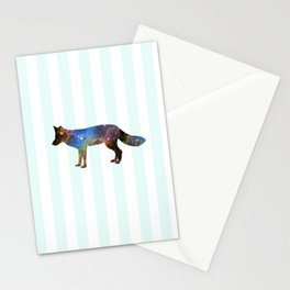 Nebula Fox Stripe Stationery Cards