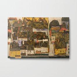 Egon Schiele - Die kleine Stadt IV (Krumau an der Moldau) Metal Print
