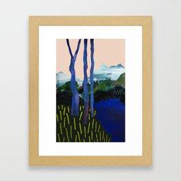 Ultra Blue Lagoon Framed Art Print