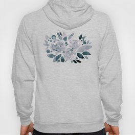 Abstract watercolor roses - neutral Hoody