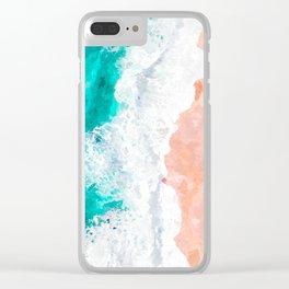 Beach Illustration Clear iPhone Case
