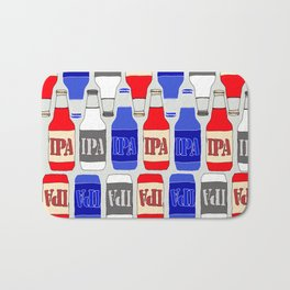 red white and blue IPA beer pattern Bath Mat