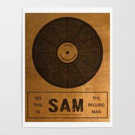 Sam the Record Man Vintage Poster