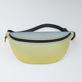 Gradient Blend Pantone 2021 Color of the Year Illuminating 13-0647 Yellow and Placid Blue 15-3920 Fanny Pack