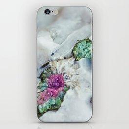 Colorful watermelon tourmaline crystal, macro #society6 iPhone Skin