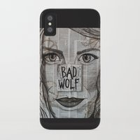 bad wolf iPhone & iPod Cases featuring Bad Wolf  by Chrissie Brown Art