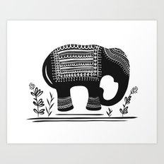 Lucky Elephant Art Print
