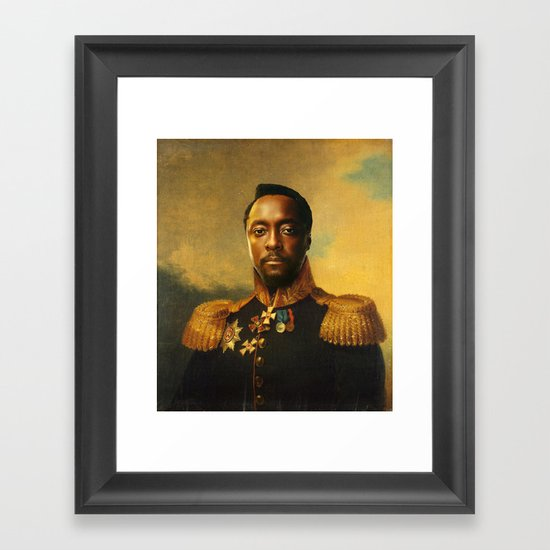 will.i.am - replaceface Framed Art Print