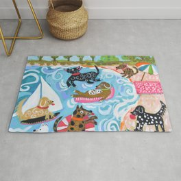 Dogs at Play Rug