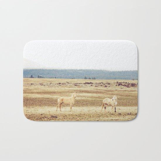 Two Oregon Horses Bath Mat