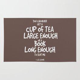 Tea & Books Quote - C S Lewis Rug