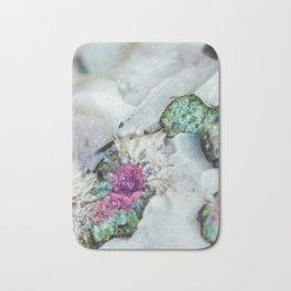 Colorful watermelon tourmaline crystal, macro #society6 Bath Mat