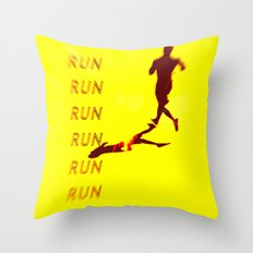 Run Run Run Throw Pillow