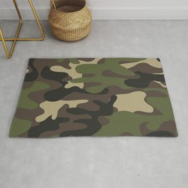 Texture military camouflage repeats seamless army green hunting Rug
