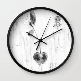 Black and White Cherry Wall Clock