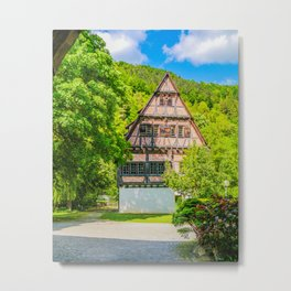 Klosterhof Blaubeueren ( Half-timbered House ) Metal Print