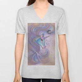 Mystic Unicorn Unisex V-Neck