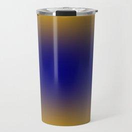 Amber Orange to Navy Blue Bilinear Gradient Travel Mug