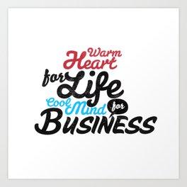 Business Typography Art Print