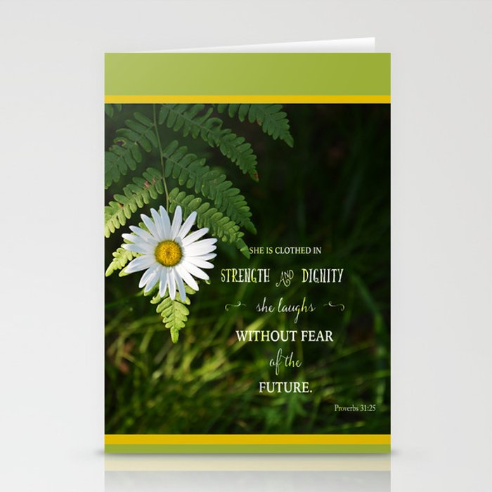 Clothed with Strength Stationery Cards