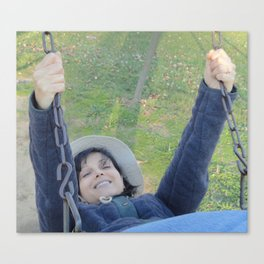 Happiness Is A Slow Swing Canvas Print