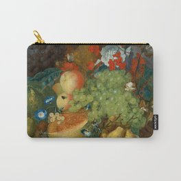 "Jan van Os  ""Fruit still life with a mouse on a ledge"" Carry-All Pouch"