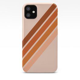 Warm Retro Stripes 70s iPhone Case