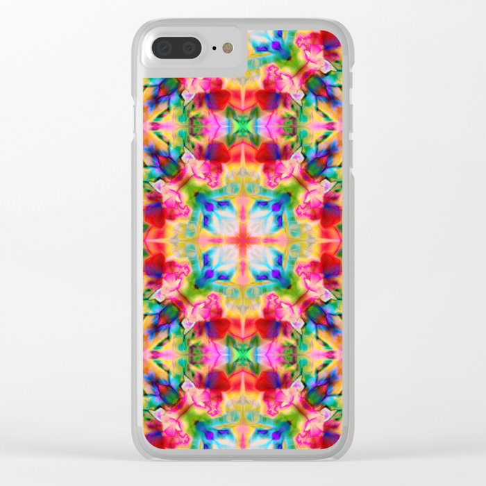 Colors of the kaleidoscope. Colorful ornament. Clear iPhone Case