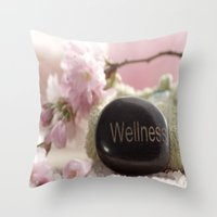 bathroom Throw Pillows featuring Bathroom Decoration by Tanja Riedel