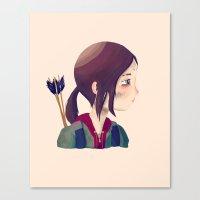 ellie goulding Canvas Prints featuring Ellie by Nan Lawson