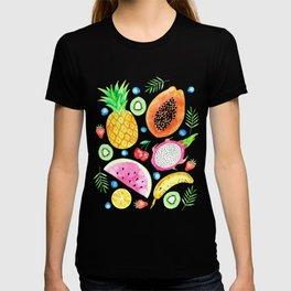 Fruit Salad All-Over Watercolour Print T-shirt
