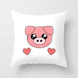 Just really like pigs, okay? - pig Throw Pillow