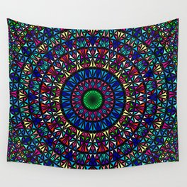 Colorful Church Window Mandala Wall Tapestry