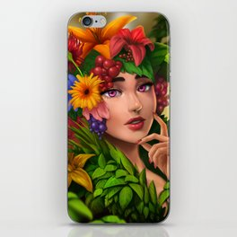 Portrait of Spring iPhone Skin