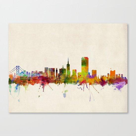 San Francisco City Skyline Canvas Print