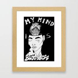 MY MIND IS BLOODLESS  Framed Art Print