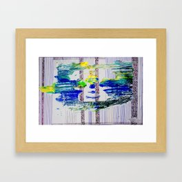 Amongst the Lines,Columns and Space Framed Art Print