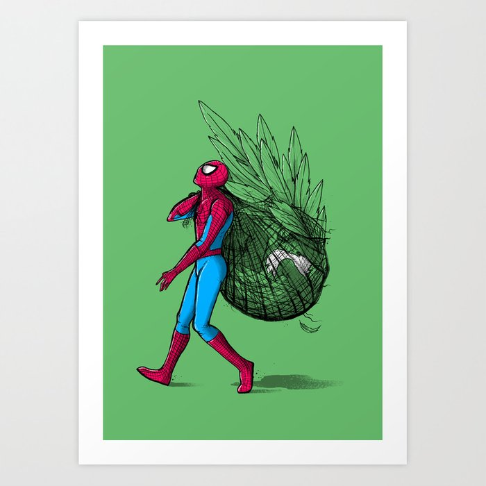 """Its a Web, I mean Wrap"" Art Print"