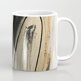 Drift [5]: a neutral abstract mixed media piece in black, white, gray, brown Coffee Mug