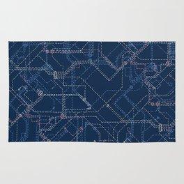 Public Transport Network Rug