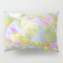 Abstract in Shimmery Pastel Colors Pillow Sham