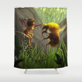 Faerie and Bee Shower Curtain