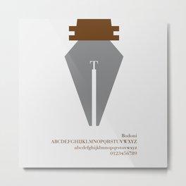 PEN - FontLove Metal Print