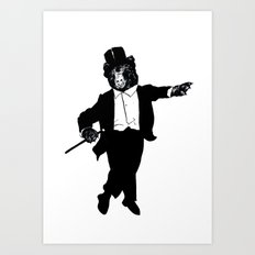 Tap Dancing Bear Art Print
