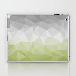 light green and grey polygon Laptop & iPad Skin