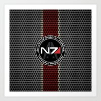 n7 Art Prints featuring N7 by aleha