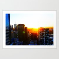 """ Cityscape"" Melbourne/Southbank Victoria,Australia Art Print"
