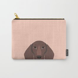 Remy - Daschund hipster dog, doxie, weiner dog, wiener dog,  Carry-All Pouch