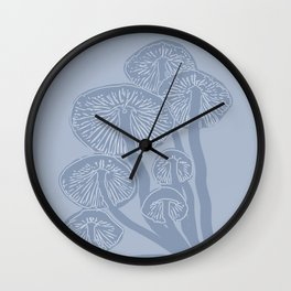 Blue Fungi Wall Clock