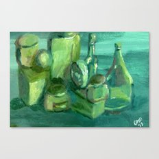 Still Life Study in Green Canvas Print